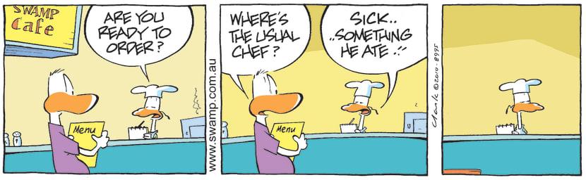 Swamp Cartoon - Poor Timing 2July 3, 2010