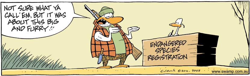 Swamp Cartoon - Endangered Species RegistrationSeptember 3, 2010