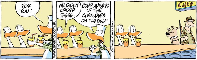 Swamp Cartoon - Friendly EnemiesSeptember 25, 2010