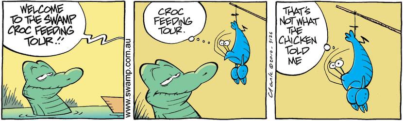 Swamp Cartoon - Double Crossing ChickenDecember 3, 2010