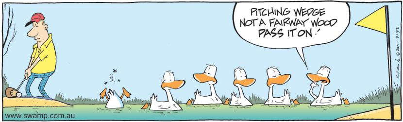 Swamp Cartoon - Golfing Fun 1February 18, 2011