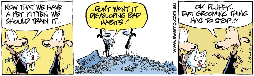Swamp Cartoon - Responsible Pet OwnersMarch 29, 2011