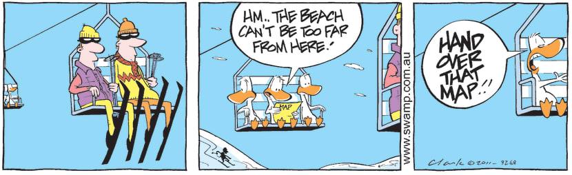 Swamp Cartoon - Winter Migration Wrong TurnMay 18, 2011