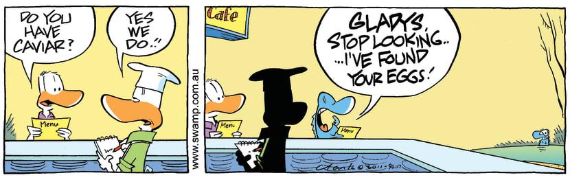Swamp Cartoon - Duck Orders CaviarOctober 26, 2011