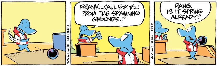 Swamp Cartoon - Frank Mud Mullet BowlingOctober 28, 2011
