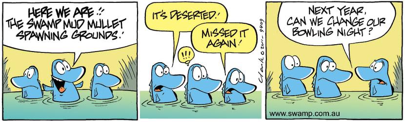 Swamp Cartoon - Mud Mullet BowlingOctober 29, 2011