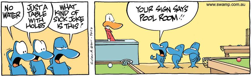 Swamp Cartoon - Misleading AdvertisingDecember 21, 2011