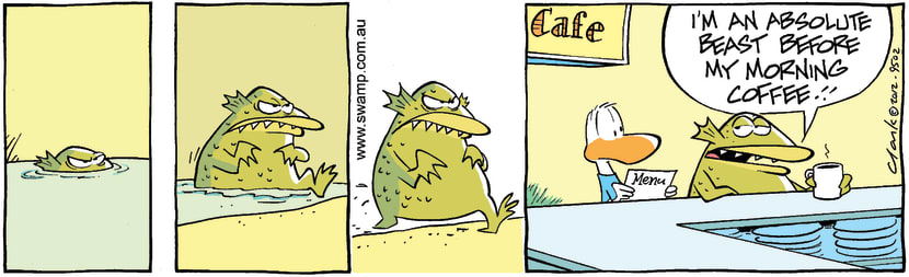 Swamp Cartoon - Monster Without Coffee ComicFebruary 15, 2012