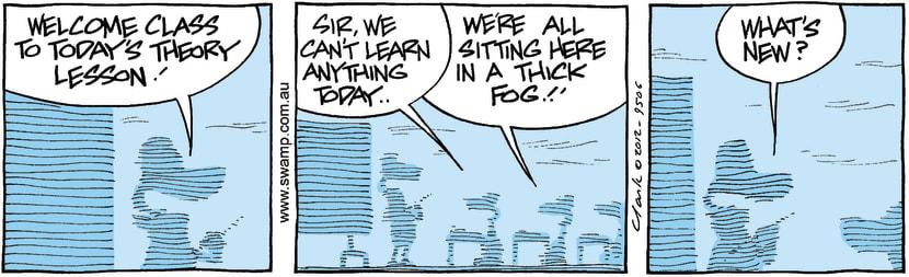 Swamp Cartoon - Foggy Fun 4February 20, 2012