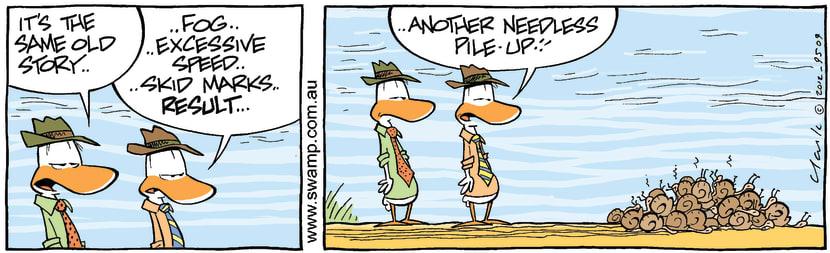Swamp Cartoon - Traffic FunFebruary 23, 2012