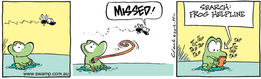 Swamp Cartoon - Mort Frog Missing ComicFebruary 25, 2012