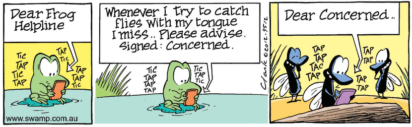 Swamp Cartoon - Mort Frog ConcernedFebruary 27, 2012