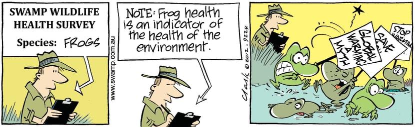 Swamp Cartoon - Frog Health SurveyMarch 12, 2012
