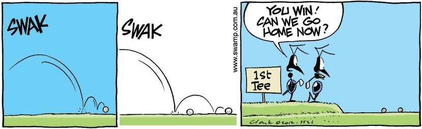 Swamp Cartoon - Enough is enough…March 14, 2012
