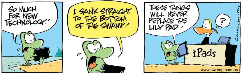 Swamp Cartoon - Modern Technology BluesMarch 16, 2012