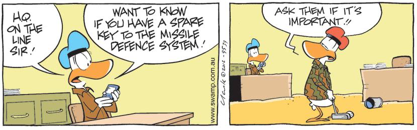Swamp Cartoon - Military SecretsMarch 29, 2012