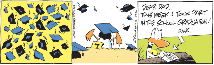 Swamp Cartoon - Ding Duck Graduation ComicApril 4, 2012
