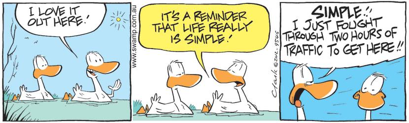Swamp Cartoon - Annoying CompanionsApril 6, 2012