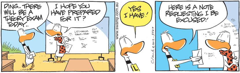 Swamp Cartoon - Ding Prepared For ExamMarch 16, 2021