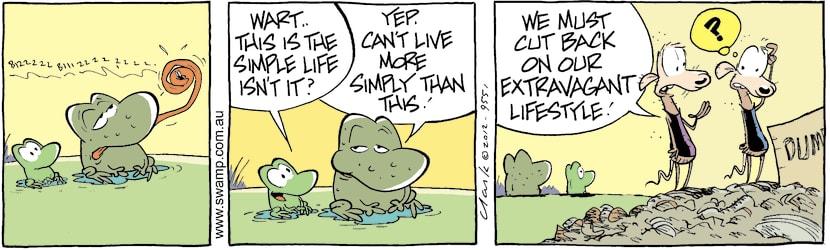 Swamp Cartoon - Living it Up 1April 12, 2012