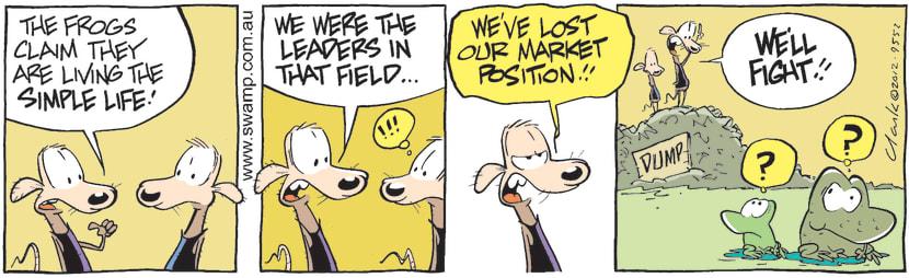 Swamp Cartoon - Living it Up 1April 13, 2012