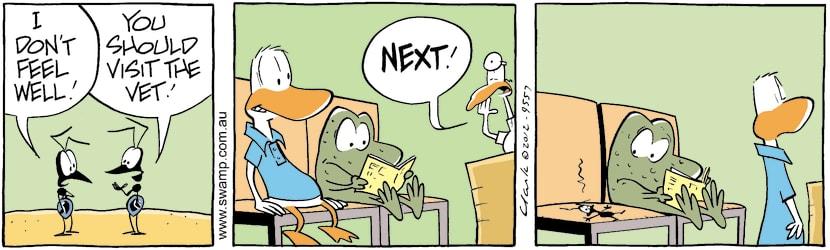 Swamp Cartoon - Ant Doesn't Feel WellMarch 9, 2021