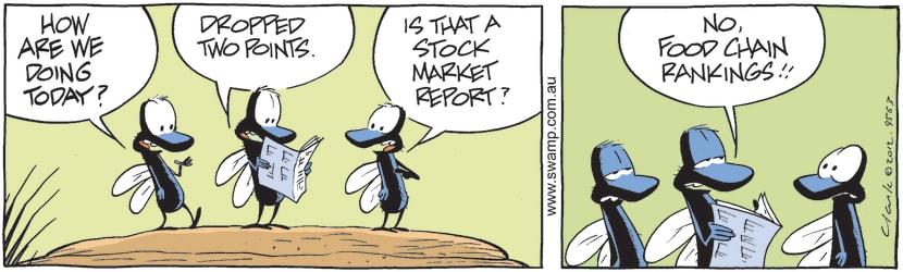 Swamp Cartoon - Flies Food Chain ComicApril 26, 2012