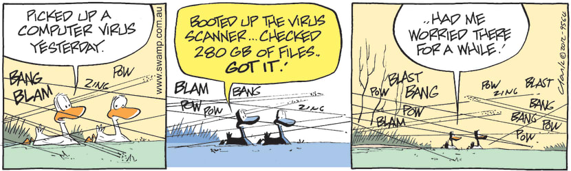 Swamp Cartoon - Just another day…April 27, 2012