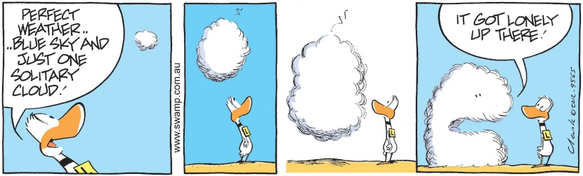 Swamp Cartoon - Just One Solitary CloudMarch 11, 2021