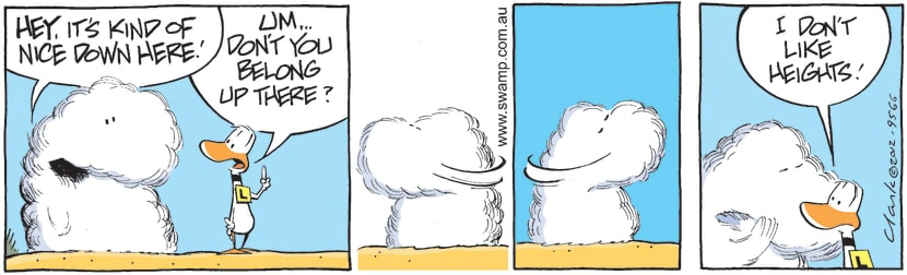 Swamp Cartoon - Under the Clouds 2April 30, 2012