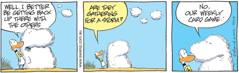 Swamp Cartoon - Ding Duck Clouds ComicMay 2, 2012