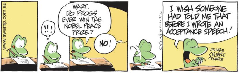 Swamp Cartoon - High Goals 2May 4, 2012