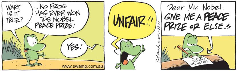 Swamp Cartoon - High Goals 3May 5, 2012