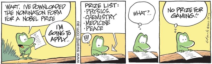 Swamp Cartoon - High Goals 4May 7, 2012