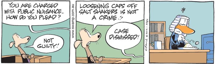 Swamp Cartoon - Cheese Rat Before JudgeMay 16, 2012