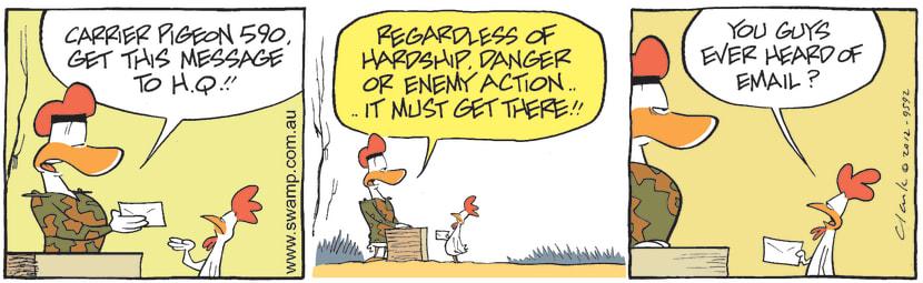 Swamp Cartoon - Carrier Pigeon 590 Get Message ThroughMarch 8, 2021