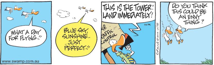 Swamp Cartoon - Air Traffic Control Envy ComicJune 6, 2012