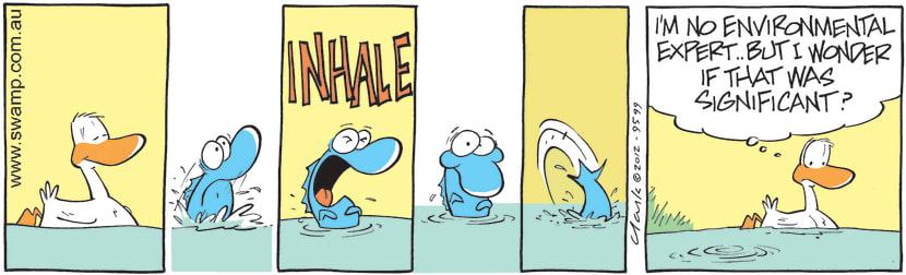 Swamp Cartoon - A Bad SignJune 7, 2012