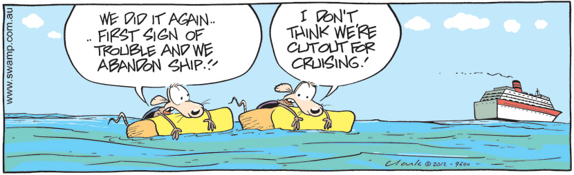 Swamp Cartoon - Cheese and Chives Rats PanicMarch 19, 2021
