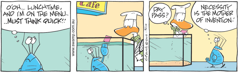 Swamp Cartoon - Crayfish Antics 2June 20, 2012