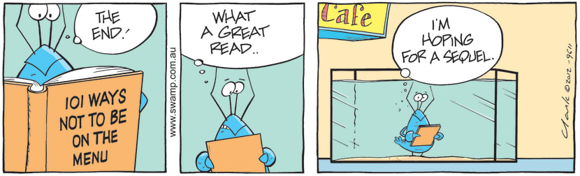 Swamp Cartoon - Crayfish Antics 3June 21, 2012