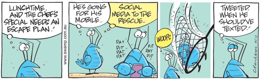 Swamp Cartoon - Crayfish Antics 4June 22, 2012