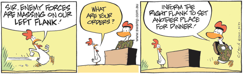 Swamp Cartoon - Army Duck tacticsJuly 10, 2012