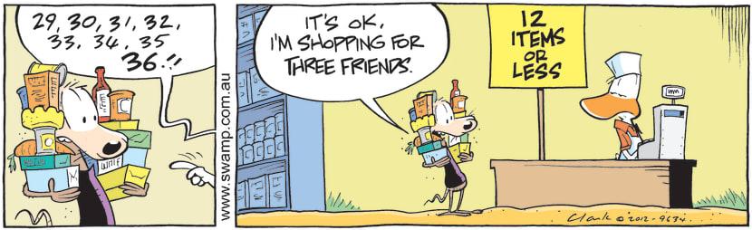 Swamp Cartoon - Cheese Rat Express CheckoutApril 2, 2021