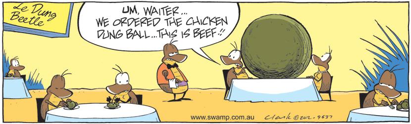 Swamp Cartoon - Wrong Dish ComicJuly 21, 2012