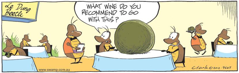 Swamp Cartoon - Wine with Dinner ComicJuly 28, 2012