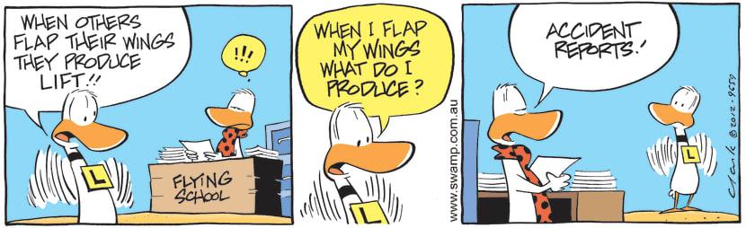 Swamp Cartoon - Flapping Wings CartoonAugust 16, 2012