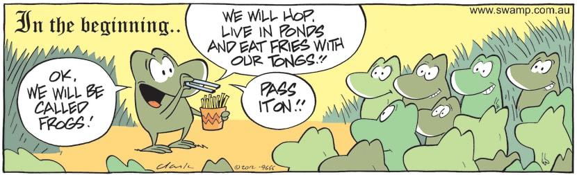 Swamp Cartoon - In the Beginning…August 24, 2012