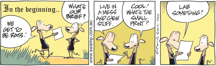 Swamp Cartoon - Check the Fine Print ComicAugust 27, 2012