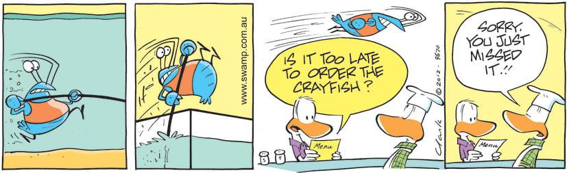 Swamp Cartoon - Order Early ComicAugust 29, 2012